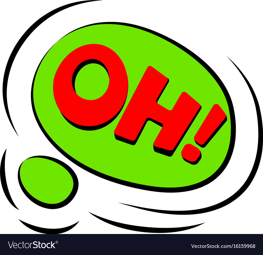 oh sound effect icon cartoon style royalty free vector image
