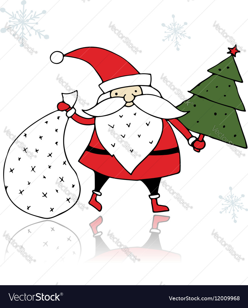 Santa Claus sketch for your design