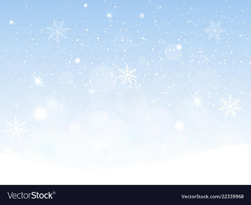 Snowing sky christmas