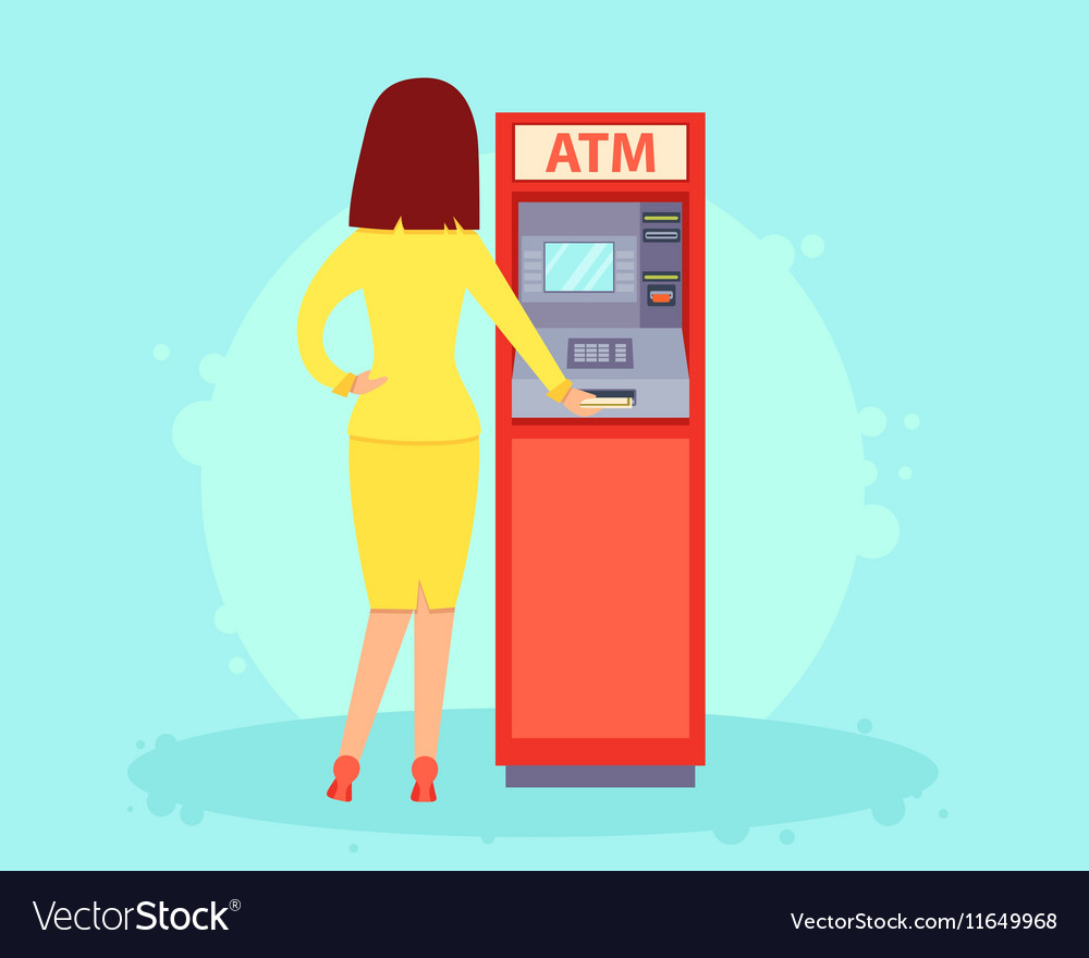 Withdrawing Money From An Atm Royalty