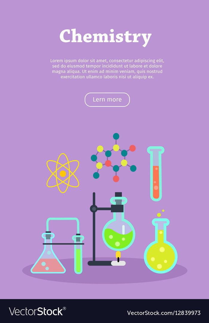 Chemistry Web Banner Website Template Vector Image