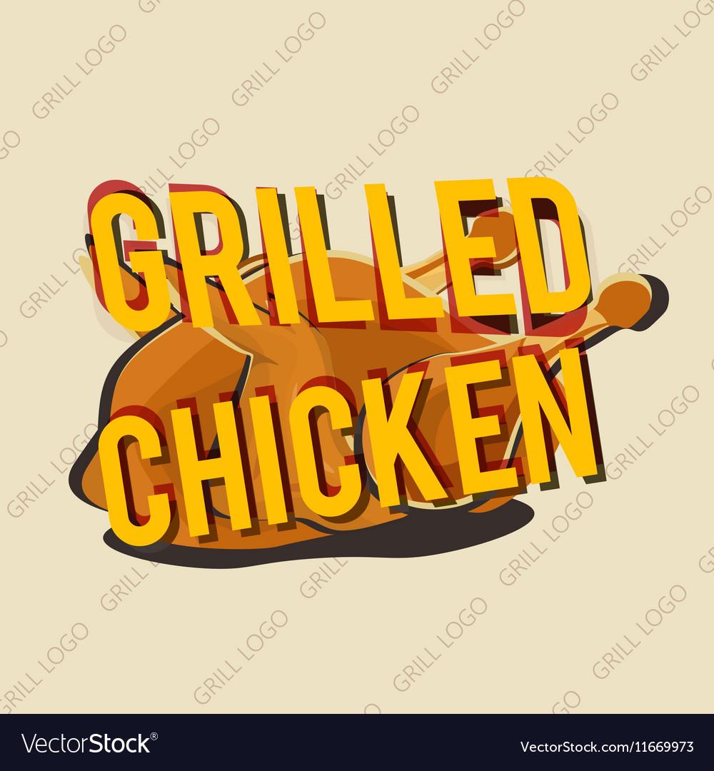 Creative logo design with grilled chicken