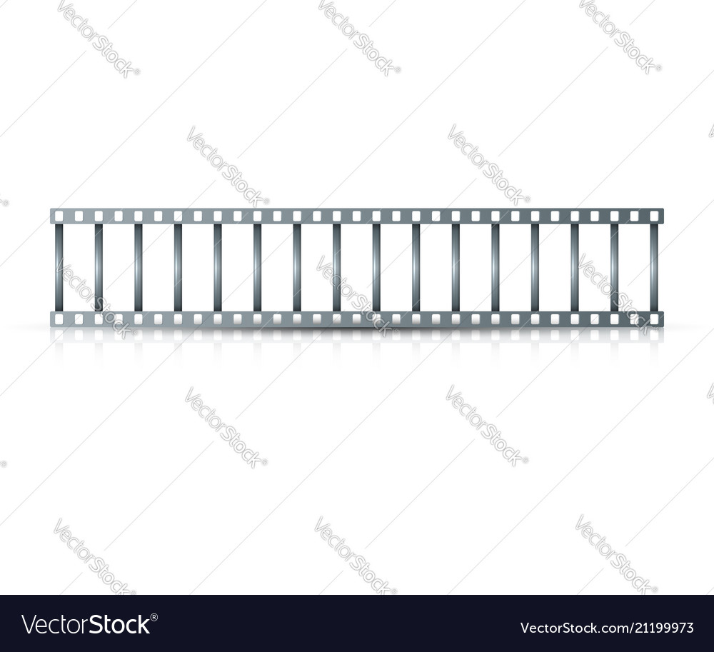 Realistic metal stair on the white background
