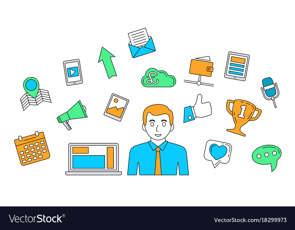Social media concept internet communication theme