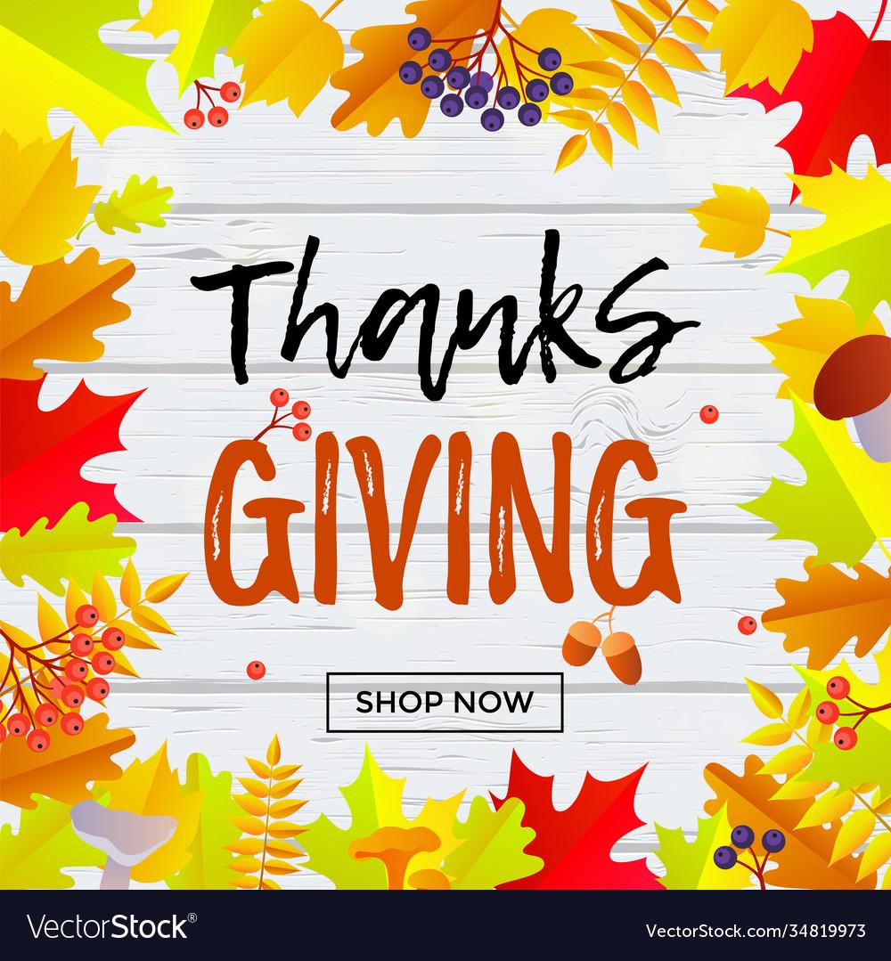 Thanksgiving sale web banner september shopping