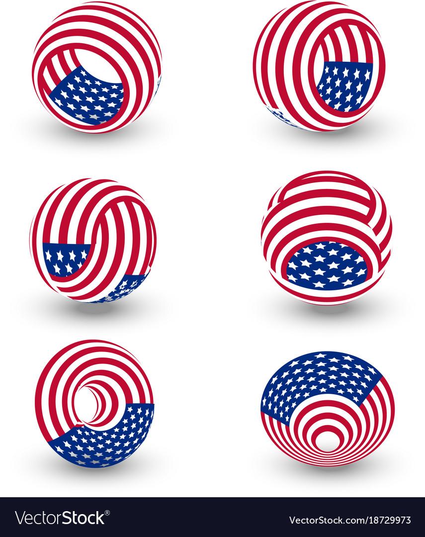 Usa twisted circle abstract logo united