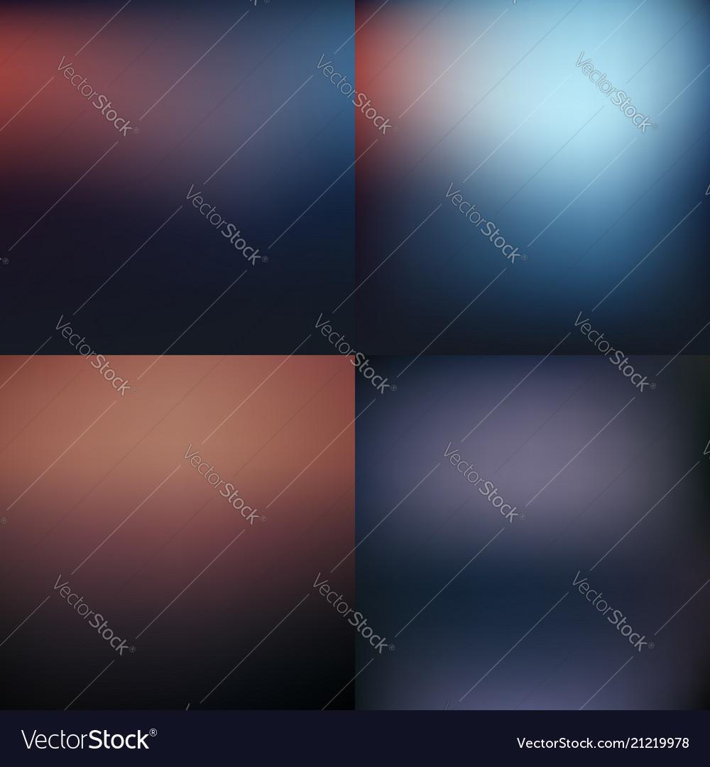 Dark blurred background set design