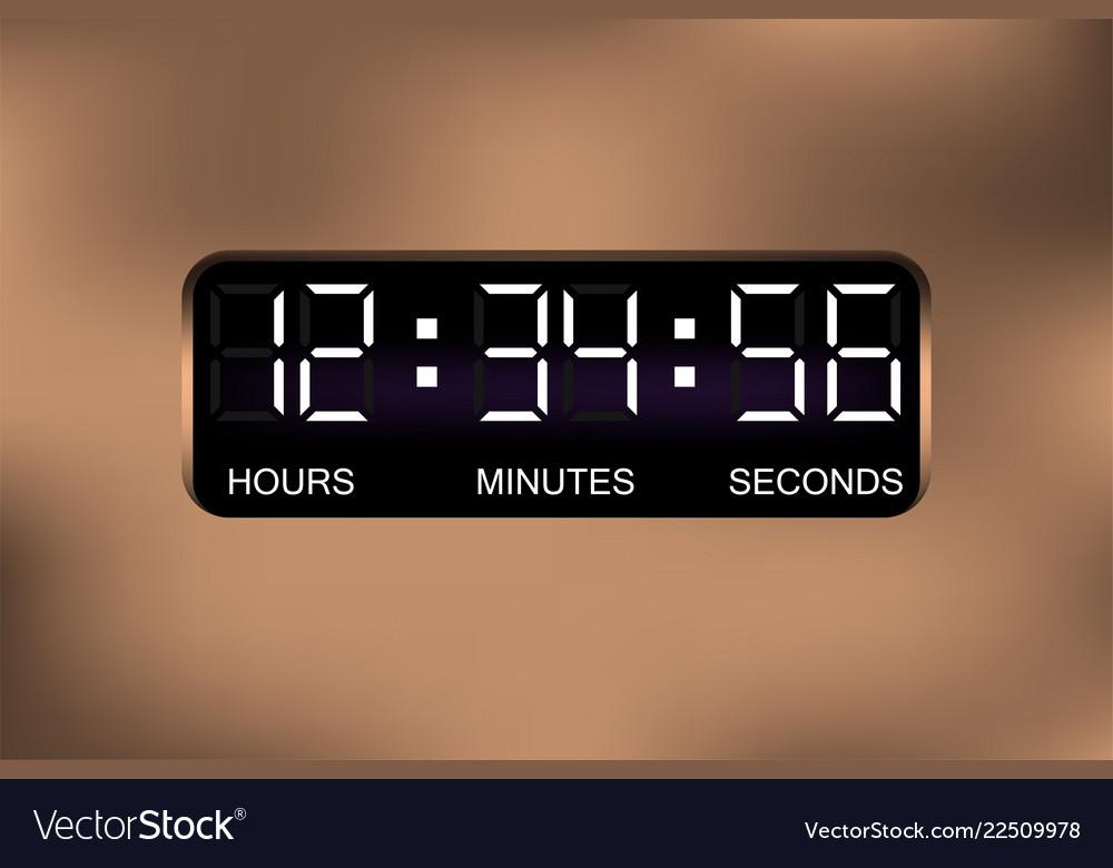 Digital alarm clock time display digital watch