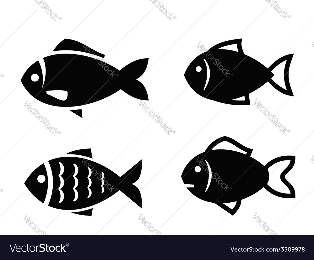fish icon royalty free vector image vectorstock rh vectorstock com fish vector art free fish vector free download