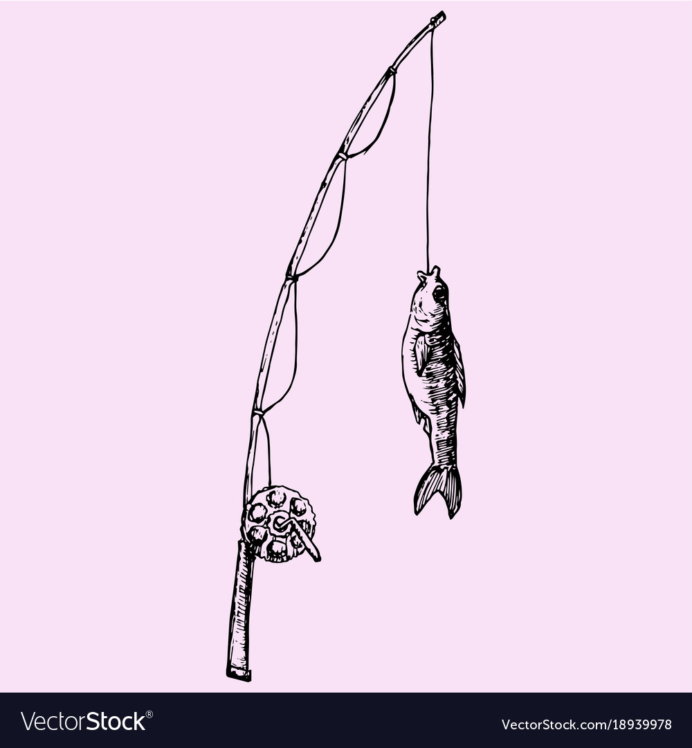 Fishing rod with fish