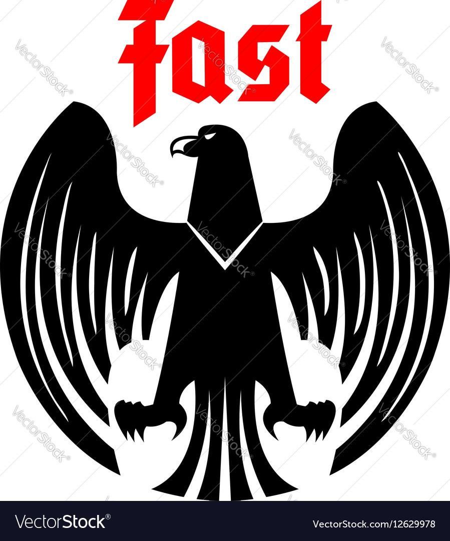 Heraldic black eagle icon