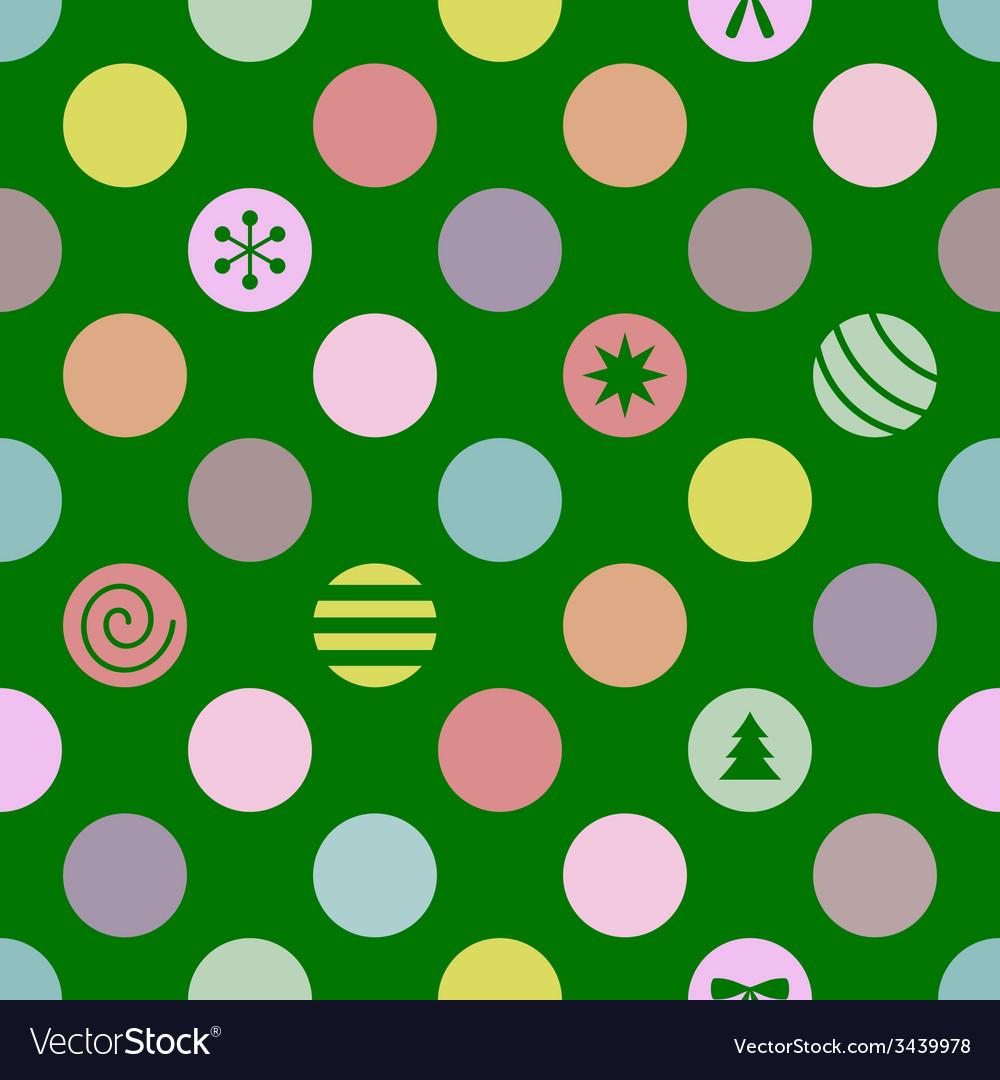 Retro seamless christmas pattern