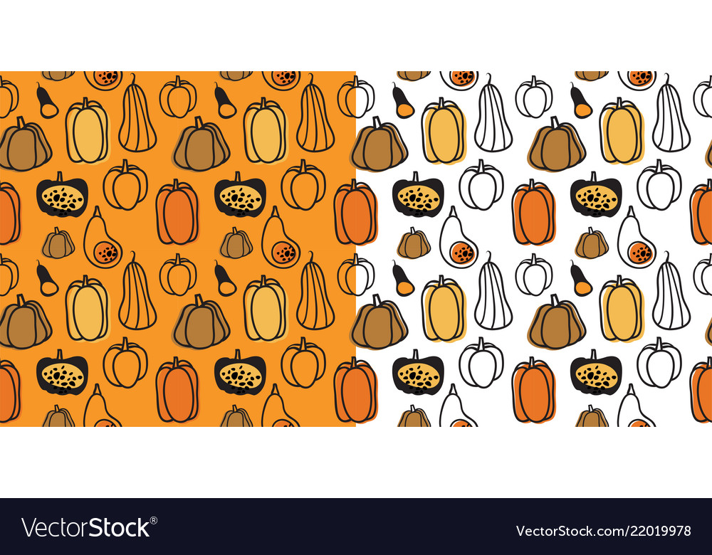 Seamless halloween pattern with hand drawn