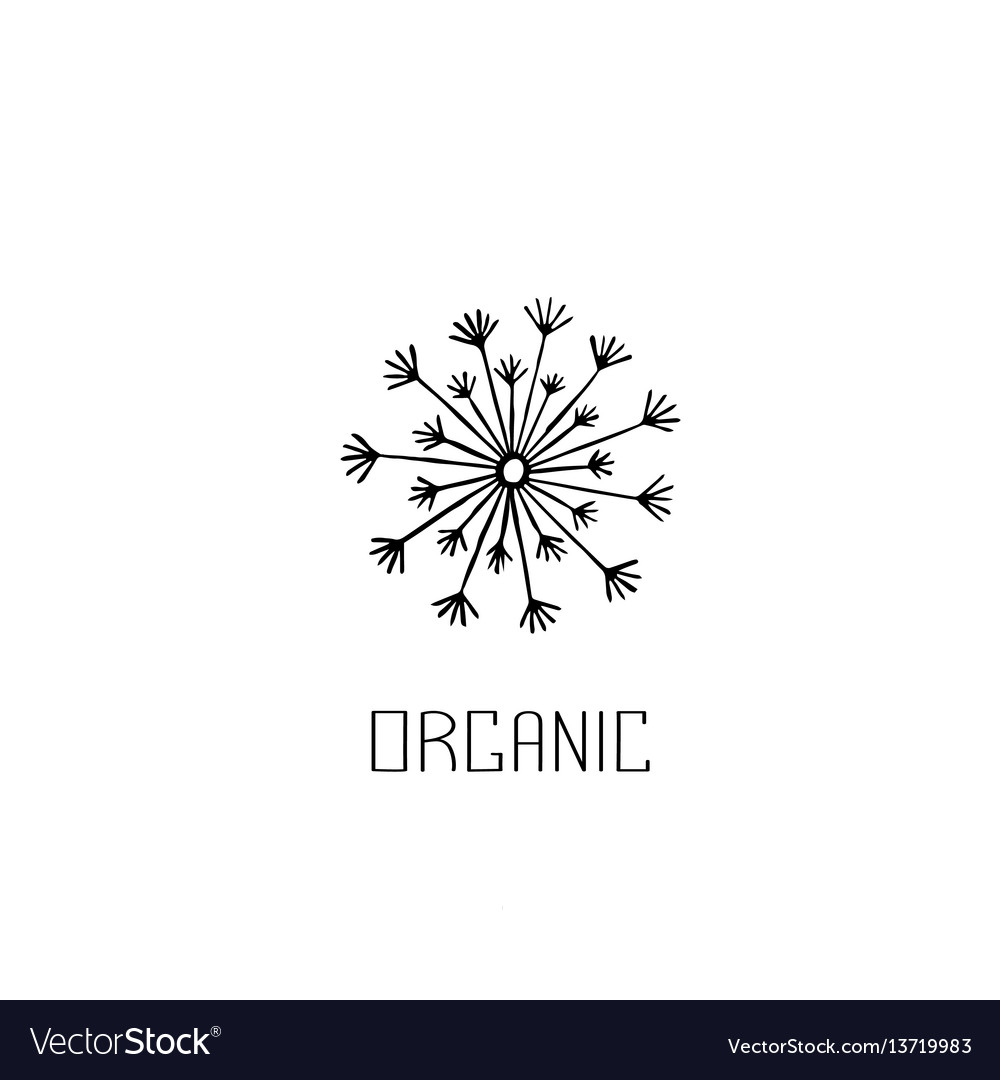Abstract graphic doodle dandelion decorative