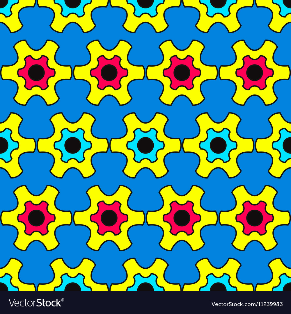 Abstract pattern inspired by Pop Art