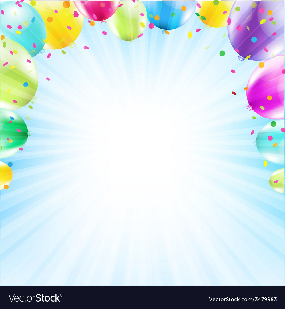 birthday card design template balloon royalty free vector