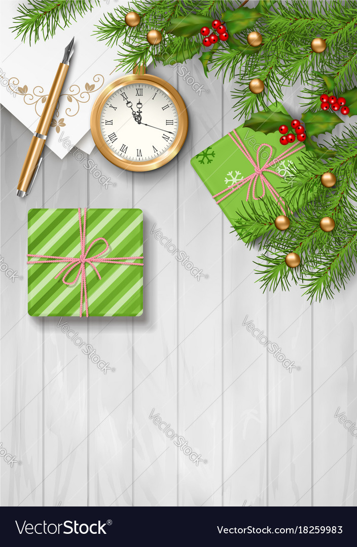Christmas Top View.Christmas Top View Background Vector Image