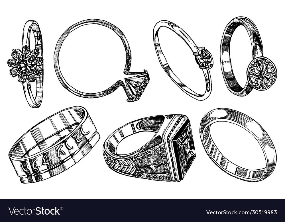 Engagement rings women wedding jewelry vintage