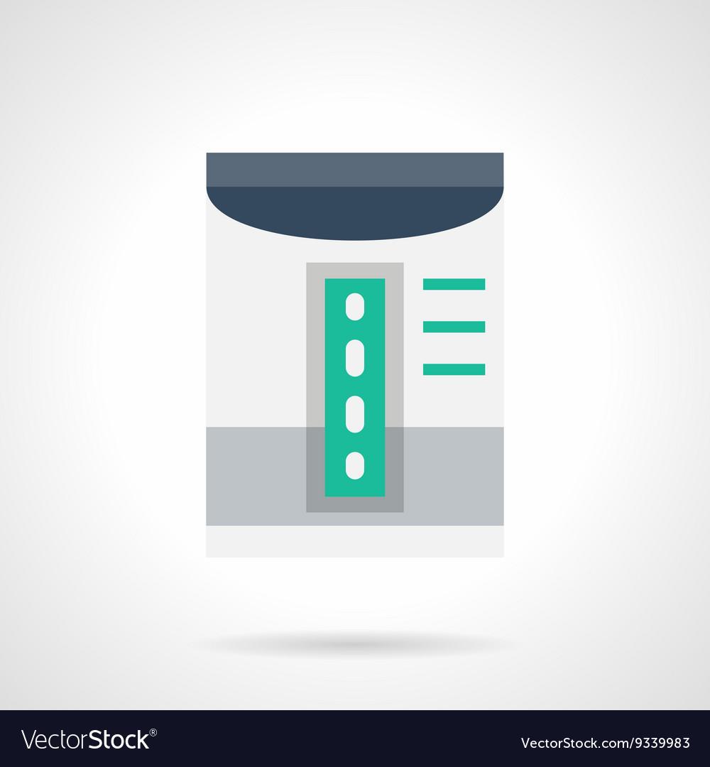 Household dehumidifier flat color icon