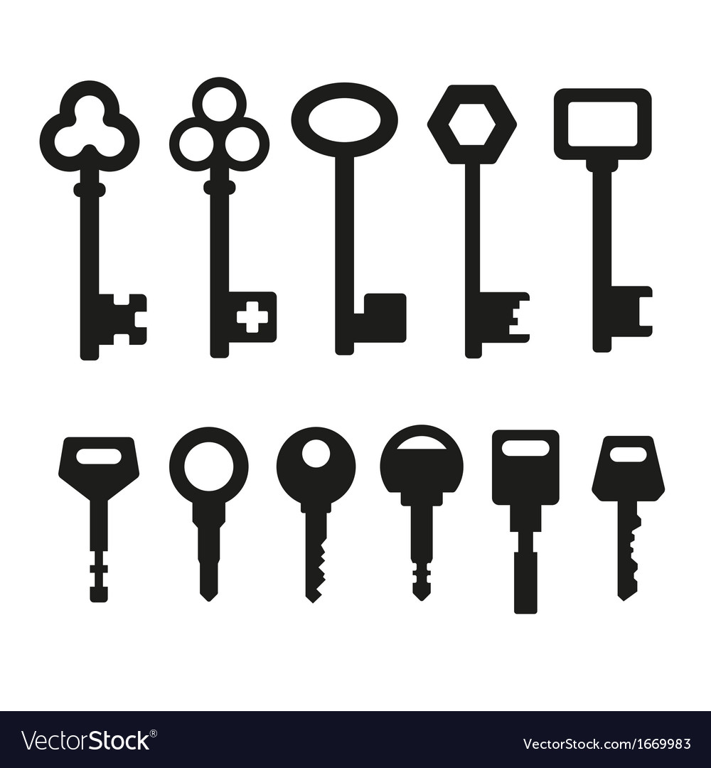 Keys icons vector image