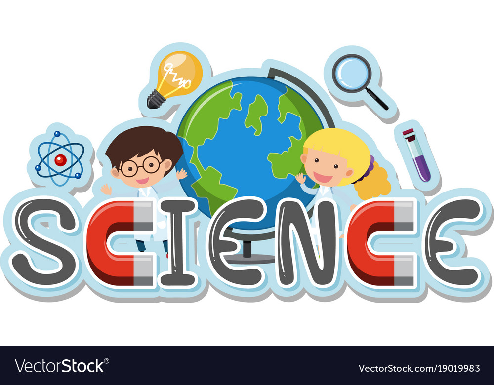 word design for science royalty free vector image