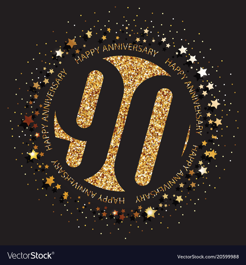 90th Birthday Logo