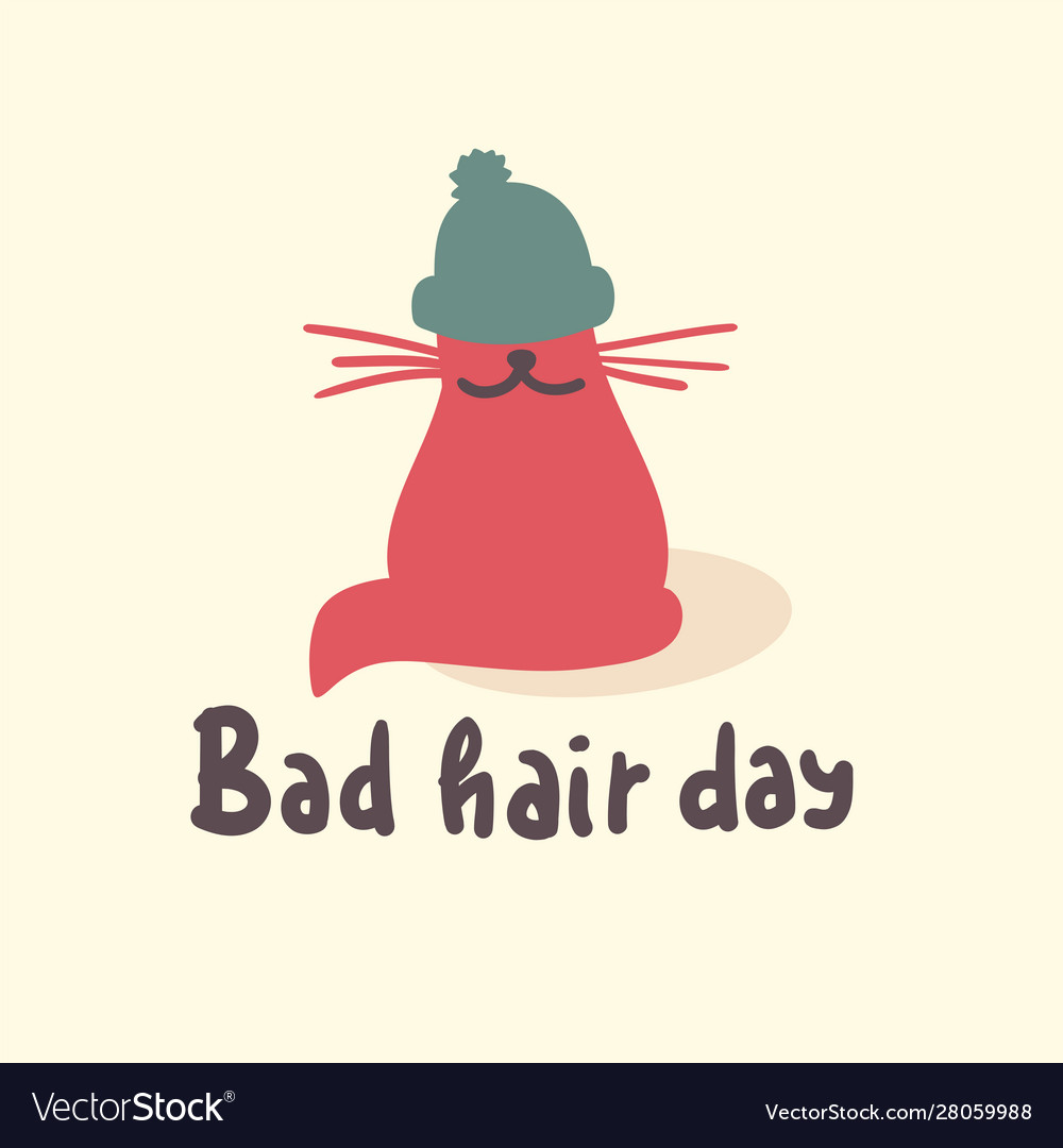 Bad Hair Day Funny Inspire Motivational Quote