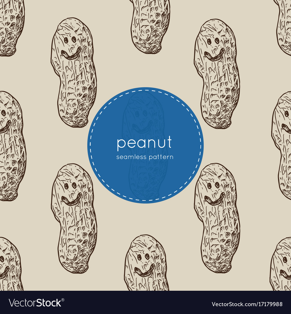 Happy peanut seamless pattern