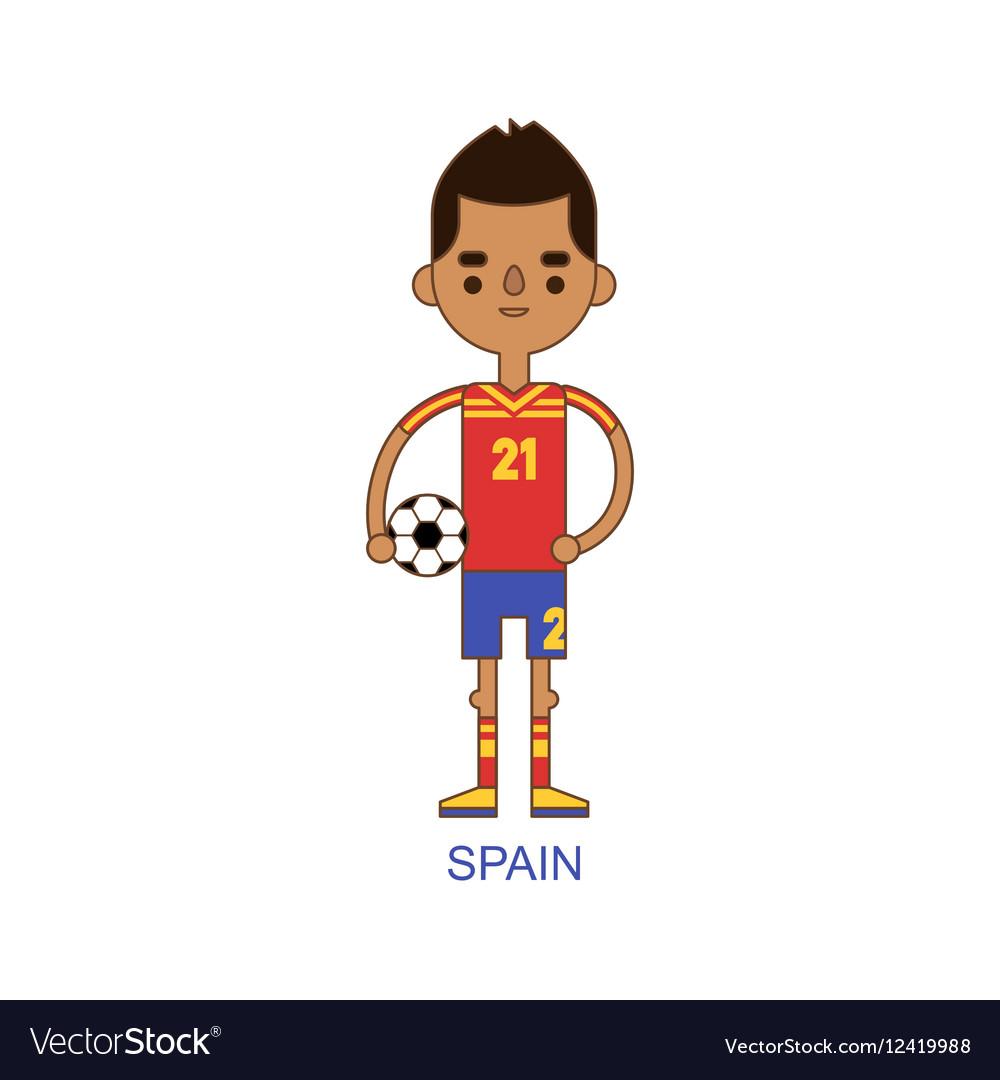 National spain soccer football player vector image