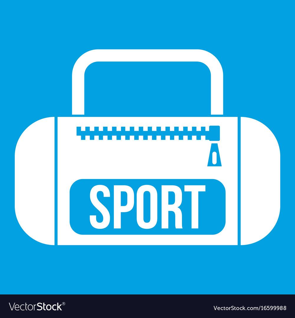 Sports bag icon white