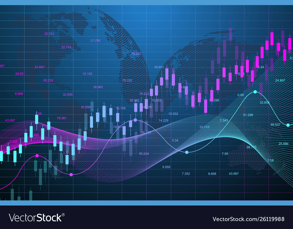 Stock Market Graph Or Forex Trading