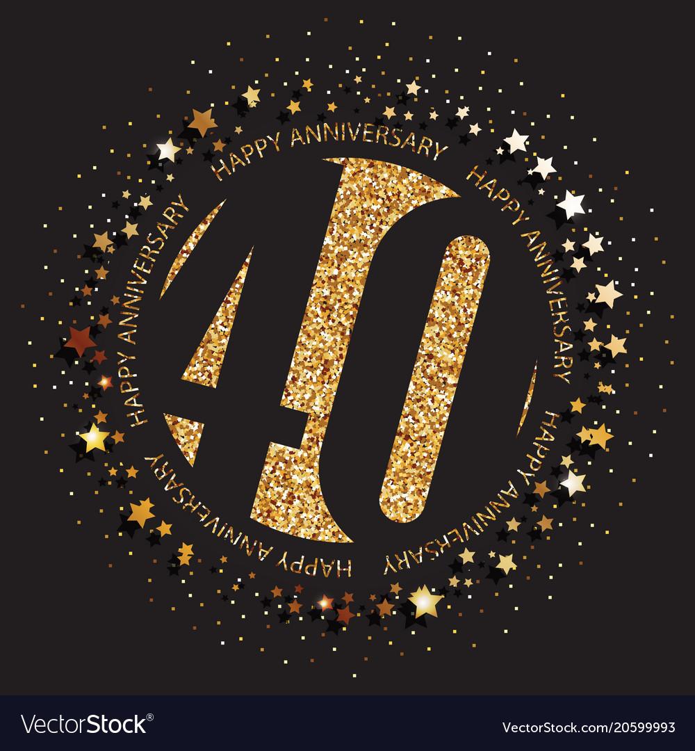 40th birthday logo royalty free vector image vectorstock