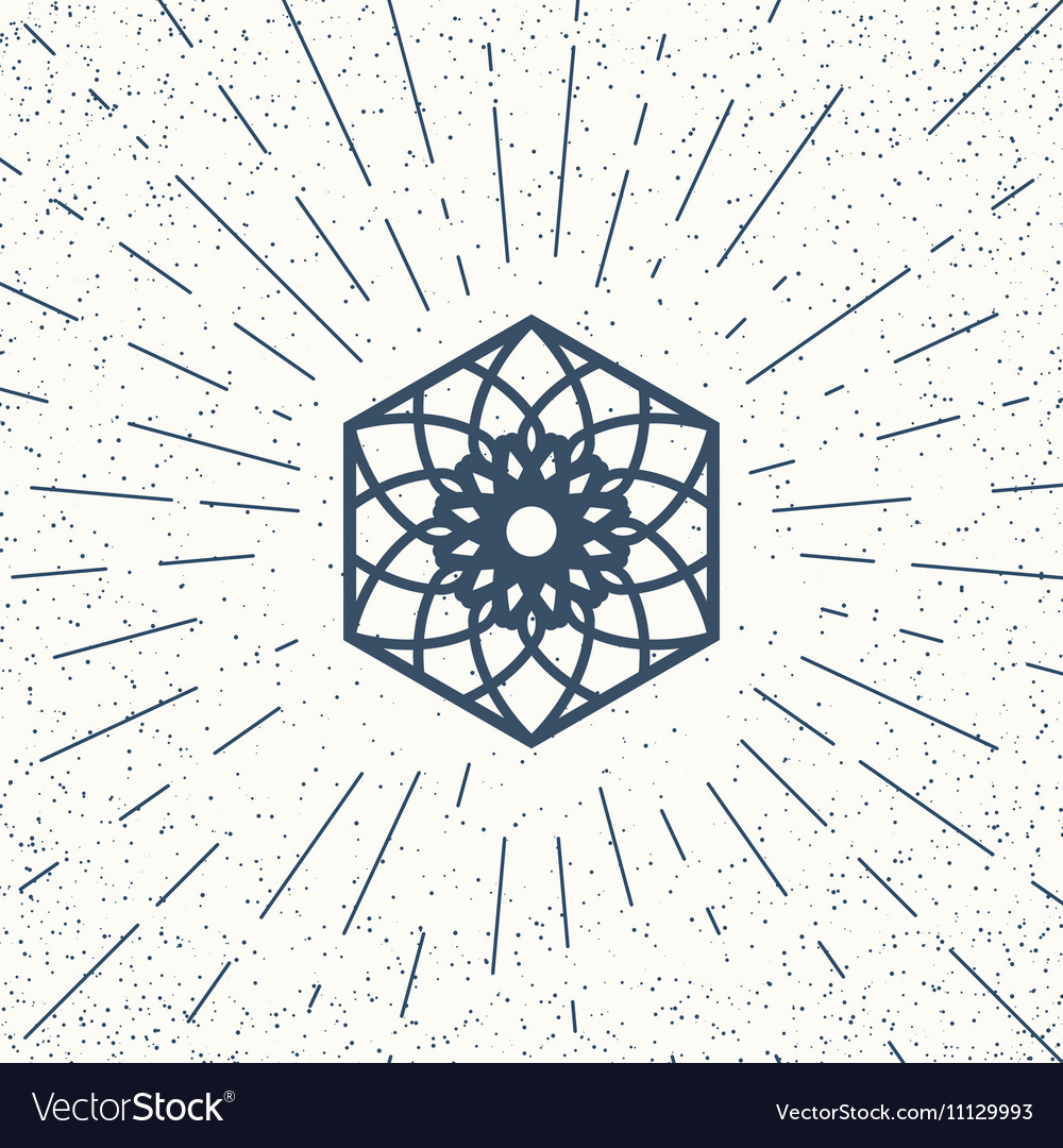 Asian hexagon symbol