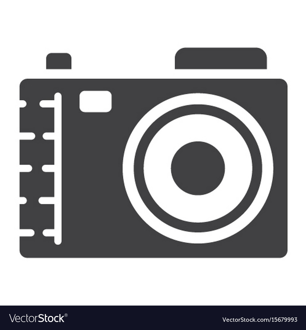 Camera solid icon photo and capture vector image