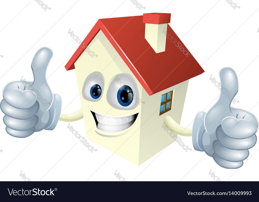 Cartoon house mascot vector image