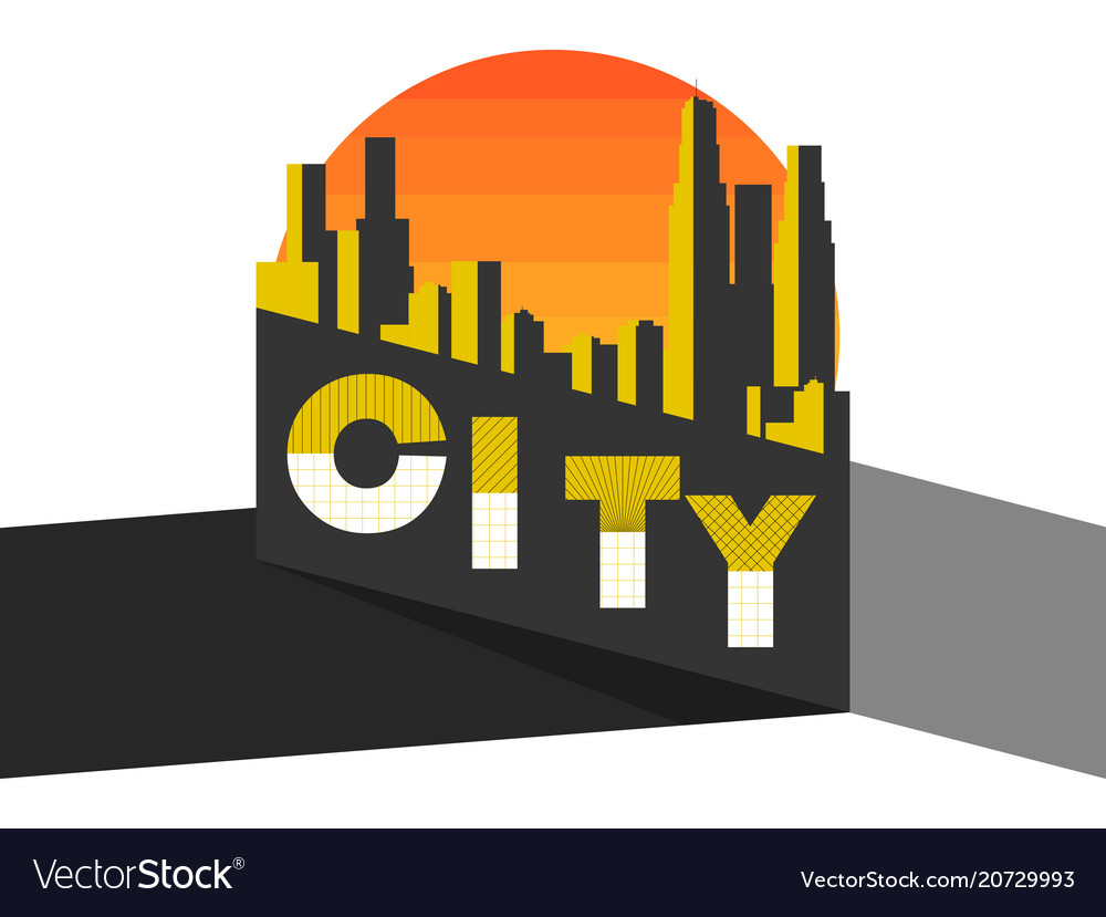 City landscape on a modern city skyscrapers