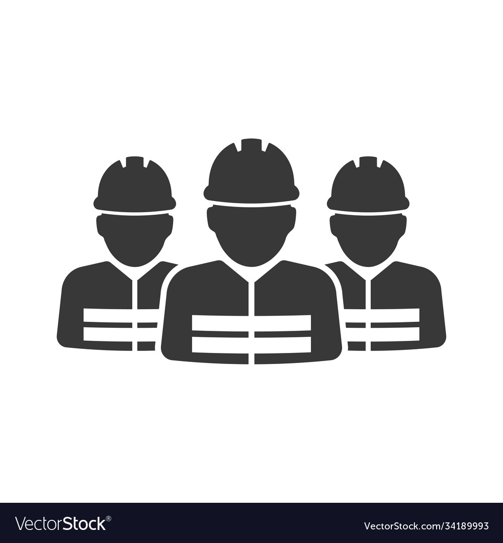 Construction workers group icon images