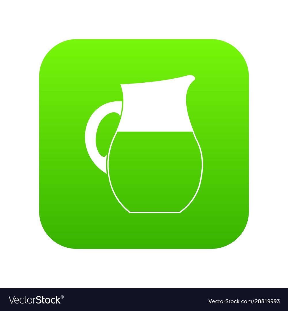 Pitcher of milk icon digital green