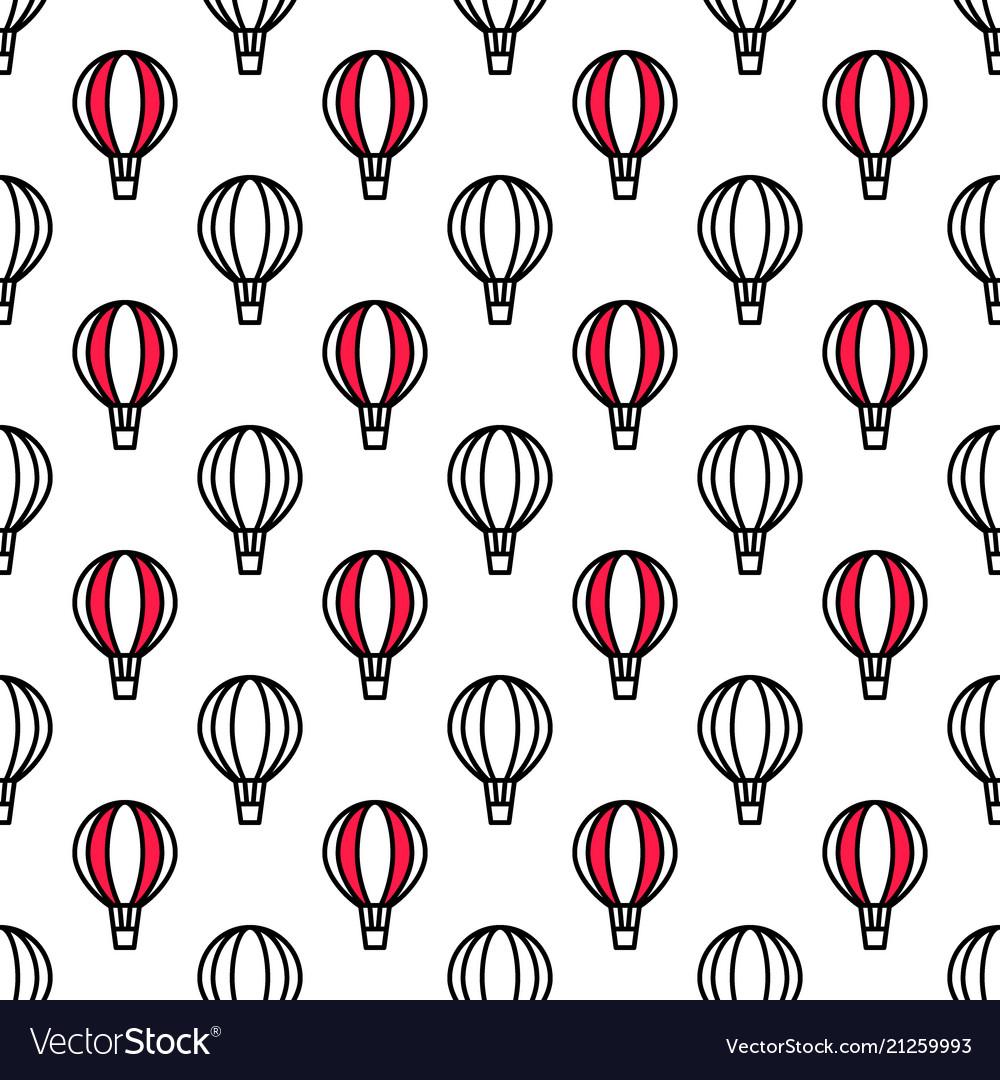 Seamless air balloon pattern