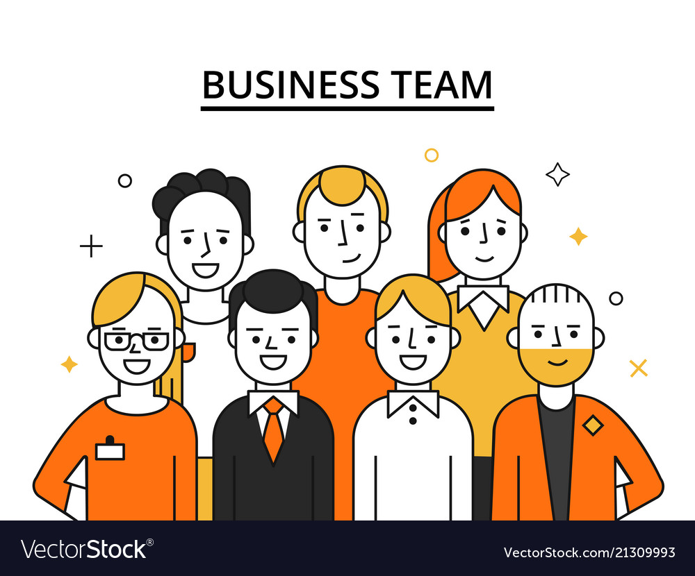 Stylized of business team concept