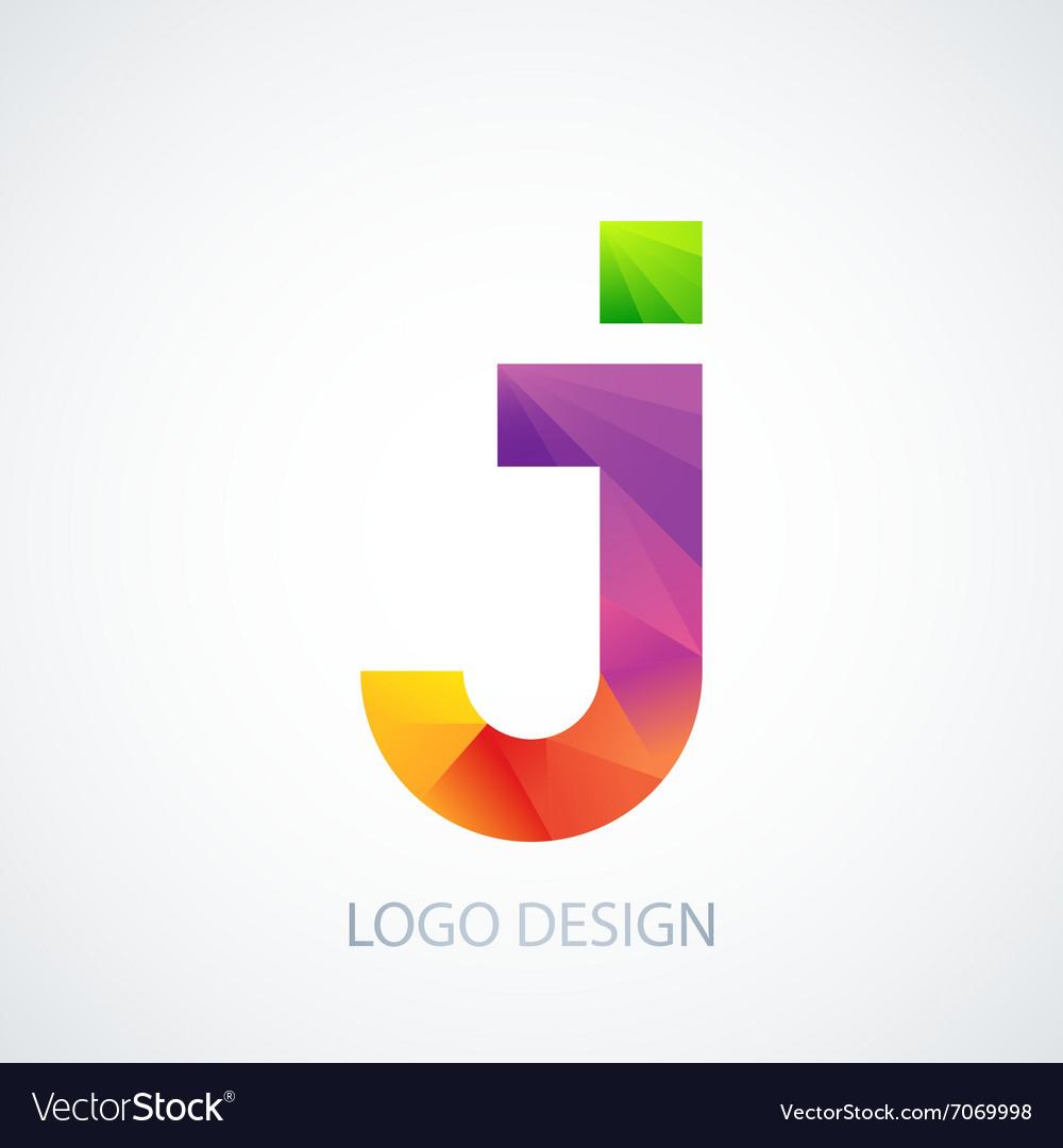 Colorful logo letter j