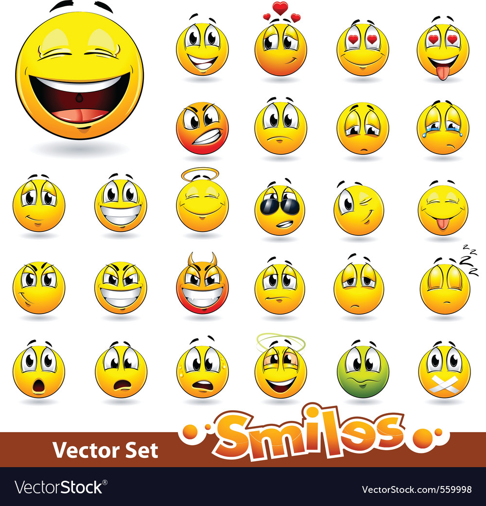 Cute smileballs vector image