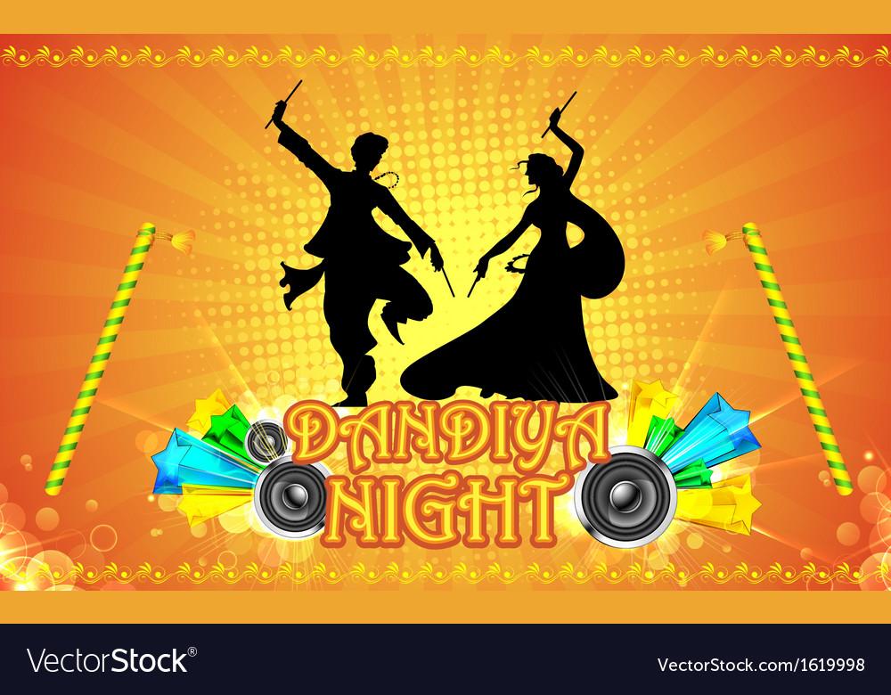 Dandiya Night vector image