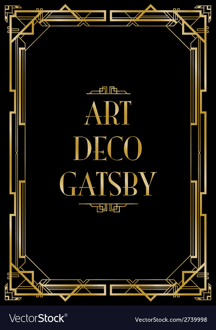 Gatsby art deco background vector image