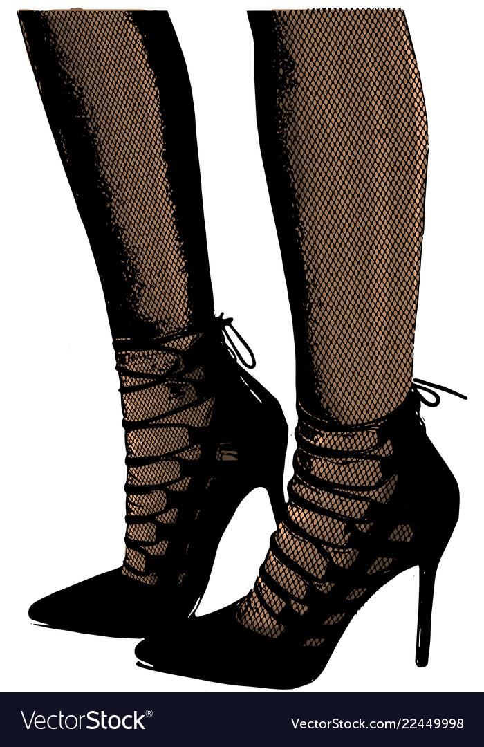 Girls in high heels fashion Royalty