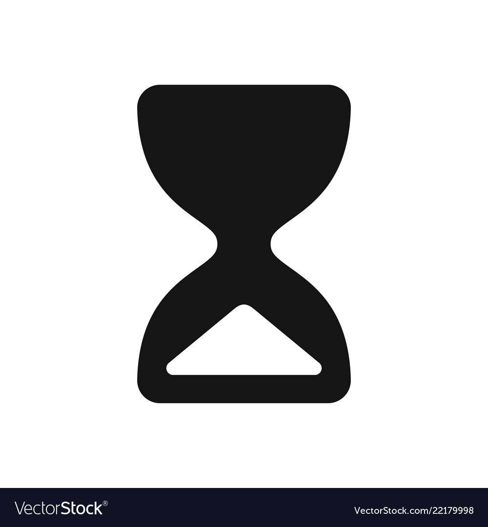 Hourglass icon simple black sandglass symbol