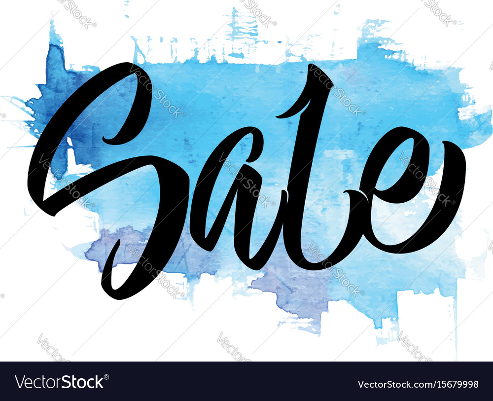 Sale hand lettering calligraphy vector image