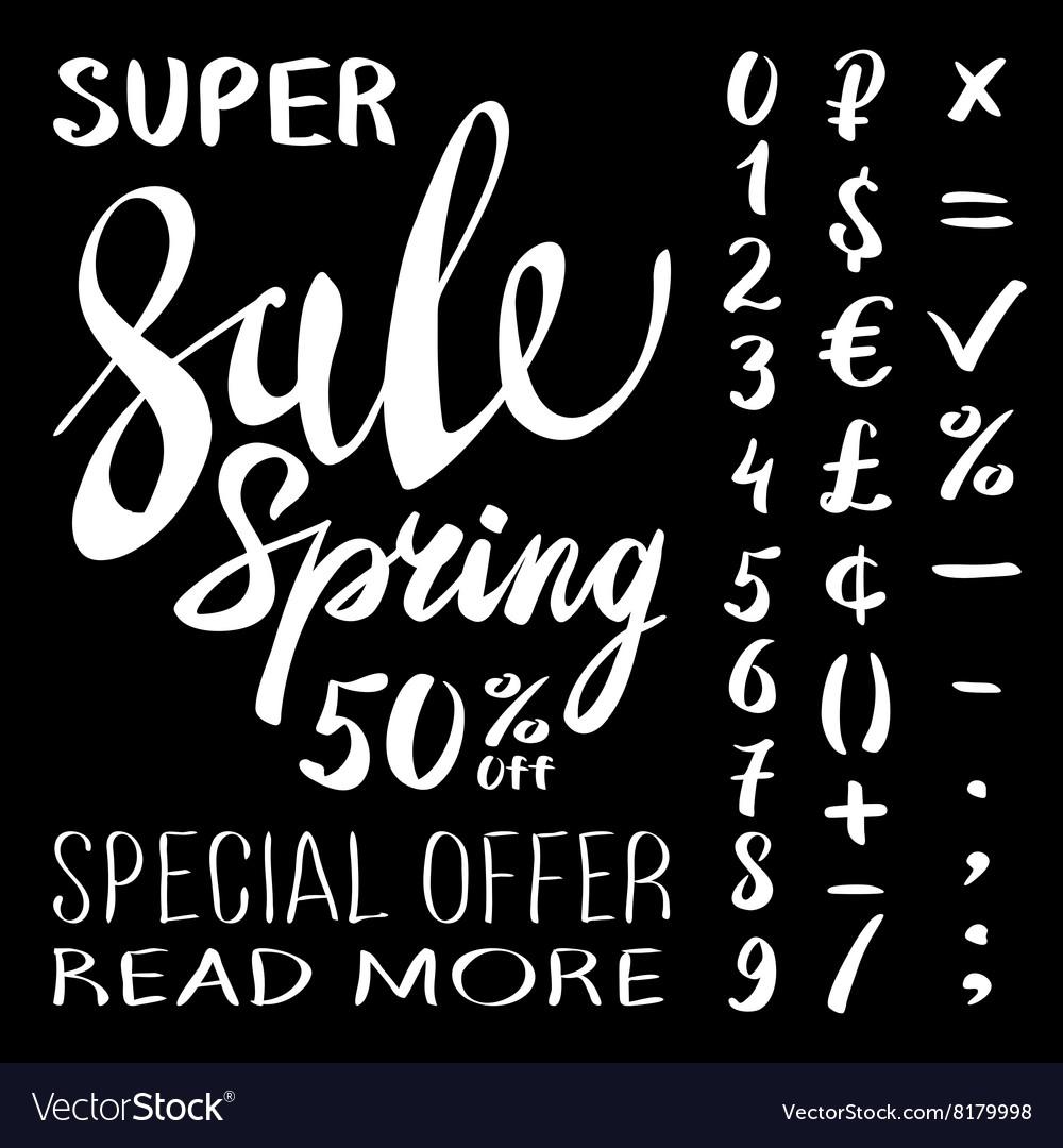 Super Spring Sale Lettering Typography Design