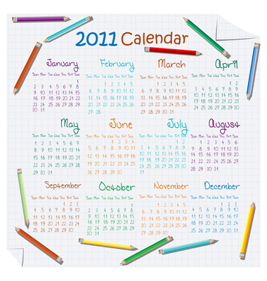 2011 Calendar Vector. Artist: Lirch; File type: Vector EPS