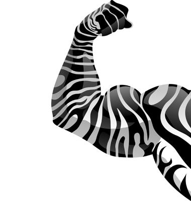 Power Hand With Zebra Tattoo Vector. Artist: Andrewshka; File type: Vector